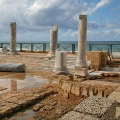Caesarea (Israel) are the ruins of an ancient Harbour during Roman times...quite amazing!