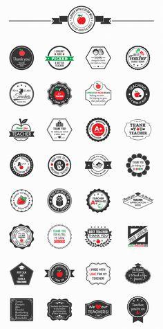 Teacher Appreciation -  Vector Badges & Labels