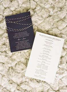 Invitations with pretty beading: http://www.stylemepretty.com/2012/09/24/brooklyn-wedding-from-jen-huang-photography/ | Photography: Jen Huang - http://jenhuangphoto.com/