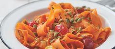 Fettuccine de cenoura com cogumelos