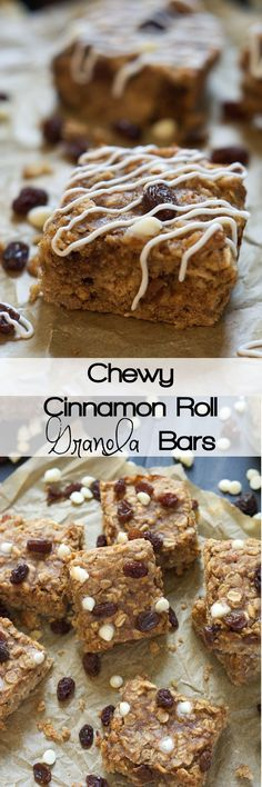 A protein packed snack that tastes like your favorite bakery breakfast! Cinnamon Roll Granola Bars are full of cinnamon, white chocolate and whole grains from the oats!