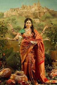 Goddess Themed Indian Styled Shoot by Mayuran Siva Photography