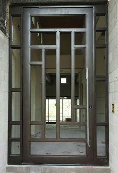 Iron door design modern Ideas for 2019 Window Grill Design Modern, Grill Door Design, Main Door Design, Iron Front Door, Double Front Doors, Front Entry, Single Front Door Designs, Modern Entry Door, Entry Doors