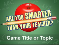 "Create your own ""Are You Smarter Than A 5th Grader?"" style review games with this PowerPoint template! http://bestteacherblog.com/are-you-smarter-than-a-5th-grader-powerpoint-template/"
