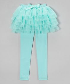 Love this Turquoise Skirted Leggings - Toddler & Girls on #zulily! #zulilyfinds