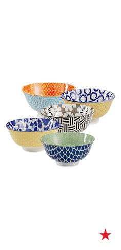 How fun would ice cream sundaes be in these bowls? Serve them up to guests at your next outdoor festivity.