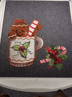 Gingerbread girl 4 machine embroidery design #gingerbread #embroidery #embroideres #christmas #happynewyear #gingerdecoration #inhoop #embroideryhoop