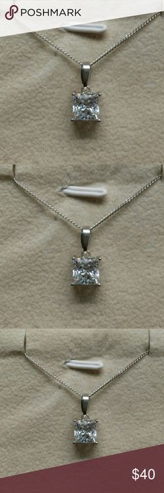 Estate 1ctw AAA Diamond Pendant/925 1 carats of AAA Man Made Diamond Pendant. Last one of these pieces, from my Grandmothers Estate. Chain is not included. ESTATE 925 Jewelry Necklaces