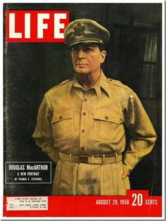Magazines offers Vintage LOOK Magazines and Original LIFE Magazine for sale. Life Magazine, History Magazine, Douglas Macarthur, Mix Media, Life Cover, Vintage Magazines, Vintage Advertisements, American History, Nostalgia