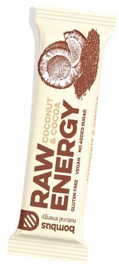 Bombus tyčinka kakao a kokos RAW Raw Energy, Natural Energy, Raw Coconut, Raw Cashews, Vegan Gluten Free, Cocoa, Tableware, Sweet, Dinnerware