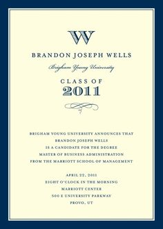 the stationery place: graduation announcements