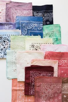 DIY Dyed Handkerchiefs - The House That Lars Built