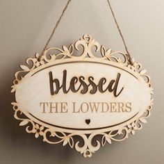 Blessed Personalized Hanging Wood Plaque - Walmart.com a71204079bfa