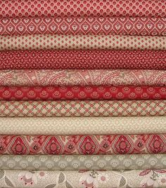Chateau Rouge, Josephine & Rue Indienne Rouge Fat Quarter Bundle of 11 by French General for Moda
