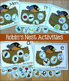 Robin's Nest activities. Alphabet, short vowels, digraphs and more! Fun spring…
