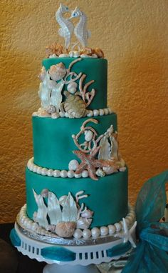 sea turtle wedding cake - Google Search