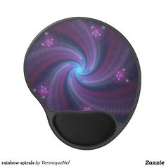 rainbow spirals gel mouse pad
