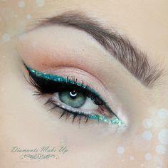 Extreme Sparkle #greenliner #cateye #eyemakeup - bellashoot.com