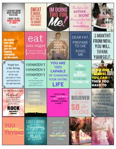 Motivational Diet/Weightloss Quote Stickers for your Erin Condren/Plum Planner/Inkwell- Hard Copy