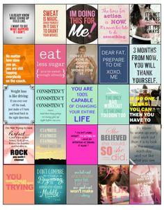 Motivational Diet/Weightloss Quote Stickers for your Erin Condren/Plum Planner/Inkwell- Hard Copy
