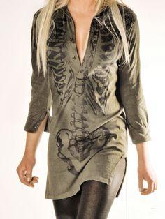 Skeleton shirt dress