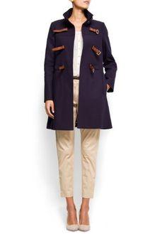 Mango Women's Clasp Closure Coat