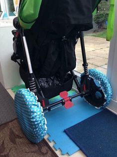 If You Have To Bring Your Stroller Indoors Put Shower Caps On The Wheels To Prevent Bringing The Dirt Inside Kids And Parenting, Parenting Hacks, Baby Life Hacks, Mom Hacks, Everything Baby, Baby Time, Raising Kids, Future Baby, New Baby Products