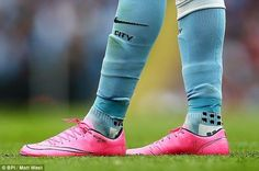 RAHEEM STERLING MATCH WORN FOOTBALL BOOTS NIKE MERCURIAL VAPOR X HYPER PINK 7.5 - Sports, Leisure & Travel - 1