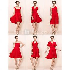 [USD $ 67.99] Sheath/Column Knee-length Jersey Convertible Dress