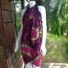 Handmade Tie Dye Sarong Beach Wrap Swimsuit  by BenThaiProducts, $19.99