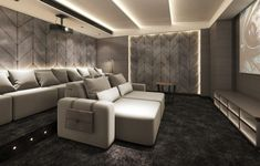Luxury Cinema Room with cinema seating that is like no other. These cinema seats are recliner seats with electric or manual head rests and feet rests. Pure luxury cinema chairs - Dream Homes - Luxury Homes Home Cinema Seating, Cinema Chairs, Home Cinema Room, Cinema Seats, Home Theater Rooms, Theatre Room Seating, Media Room Seating, Theater Seats, Salas Home Theater