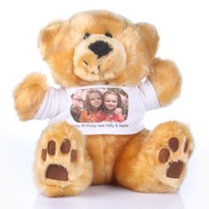 Personalised Photo Teddy Bear Send someone you love this gorgeous photo teddy bear. The bear is personalised with a message and im http://www.comparestoreprices.co.uk/anniversary-gifts/personalised-photo-teddy-bear.asp