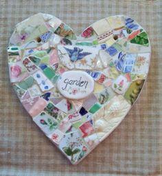 HEART Mosaic      Blue Bird Garden