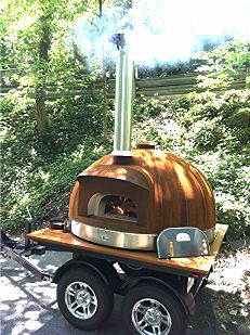 Beautiful Corten Le Panyol Wood Fired Oven