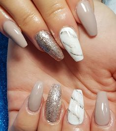 Nude gel sculpted nails with glitter and handpainted marble design - - Nude gel sculpted nails with glitter and handpainted marble design Summer Gel Nails, Short Gel Nails, Uv Gel Nails, Glitter Nails, Ongles Rose Pastel, Pastel Pink Nails, Blue Nails, Nail Art Designs, Marble Nail Designs