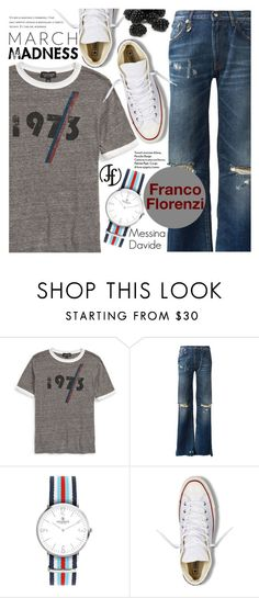 """""""Street Style"""" by pokadoll ❤ liked on Polyvore featuring Topshop, R13, Converse and francoflorenzi"""