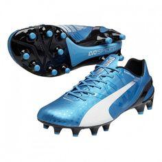 buy popular ad46c fcda0 Puma evoSPEED 1.3 FG  soccer Cleats (Hawaiian Ocean White Black)