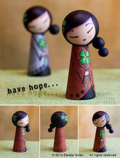 A kokeshi style doll HOPE 2 by ZanetaGc.deviantart.com on @deviantART
