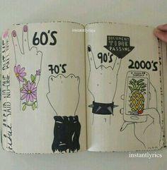grunge journal wreck drawings sketchbook hipster cool inspo sketch heart cd