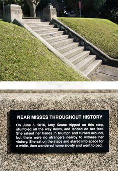 """""""Near Misses Throughout History"""" - Funny, Humor, LOL, Pics Funny Street Signs, Funny Signs, Funny Memes, Hilarious, Weird Facts, Fun Facts, Bored Games, Lol, Photos Of The Week"""