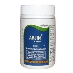 Arjin Alarsin Tablets for Hypertension - Arjin is a proven combination of herbo-mineral drugs clinically tested and used since centuries in Cardio-vascular disorders, having diuretic, hypotensive, Liver corrective, sedative, anti-spasmodic, antiarrhythmic, carminative, laxative and anti-obesity properties. Arjin is not only an effective hypotensive therapy but aims to correct the impaired Cardiac, Renal & Liver (Hepatic) Paraenchyma function. It improves the tone of Cardio-vascular system.