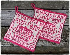 pattern by Jorunn Jakobsen Pedersen Crochet Potholders, Knit Crochet, Crochet Home Decor, Diy Arts And Crafts, Handicraft, Pot Holders, Knitting Patterns, Crafty, Handmade