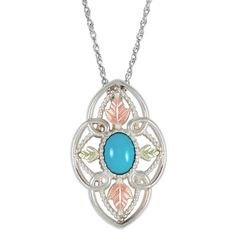 Black Hills Gold Turquoise Necklace