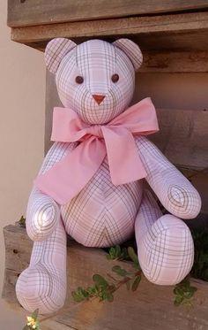 Urso Peti Petá xadrez rosa ...