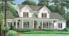 Country House Plan chp-15805 at COOLhouseplans.com