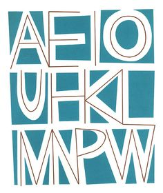 """Hawaiian Alphabet    From """"Young Folk's Hawaiian Time"""", Pacifica House, 1965. Illustrated by Stanley Stubenberg."""