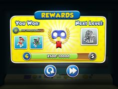 Puppy Patrol Mobile Game UI Rewards Trophy Screen
