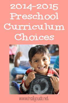 Preschool Curriculum Choices 2014-2015 ~ In All You Do