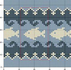 Фотография Fair Isle Knitting Patterns, Fair Isle Pattern, Knitting Charts, Knitting Stitches, Baby Knitting, Cross Stitch Sea, Cross Stitch Animals, Cross Stitch Designs, Cross Stitch Patterns
