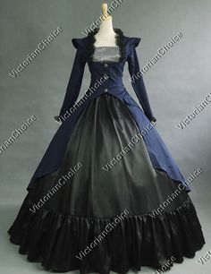 Gothic Victorian 3-PC Gown Period Dress Theatre Reenactor Clothing